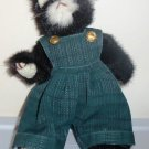 Ty Attic Treasures Purrcy the Cat w/ Overalls Loose Used