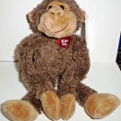 Dan Dee Hanging Monkey Plush Toy w/ Kiss Me Heart & Tags Valentine's Day Loose Used
