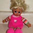 "KS Toys 11"" Doll w/ Blonde Hair & Pink Outfit Loose Used"