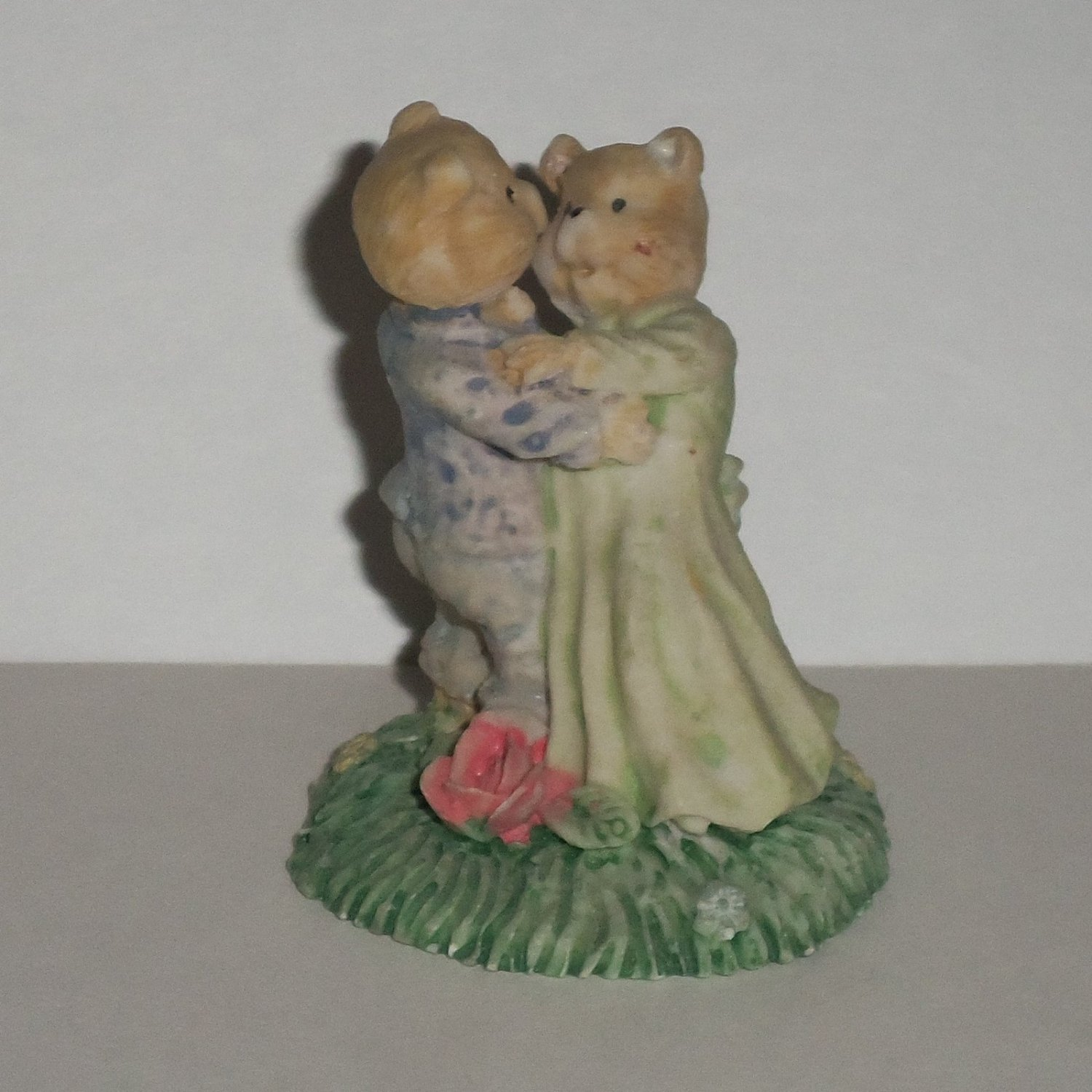 Bear Sweethearts Dancing Figurine Romantic Couple Loose Used
