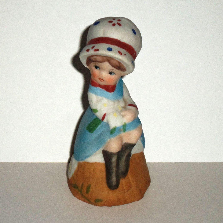 Jasco 1978 Love Me Girl Porcelain Bell Loose Used