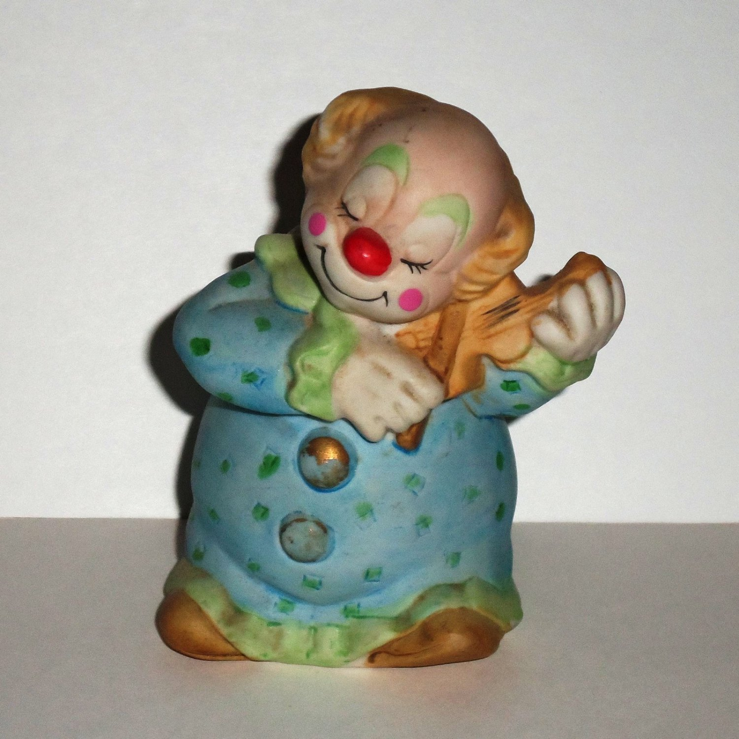 Jasco 1978 Clown Playing a Violin Porcelain Bell