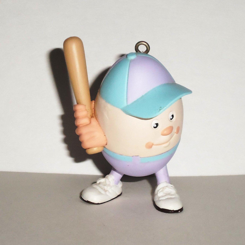 Hallmark 1991 Eggs in Sports Baseball Christmas Ornament Loose Used
