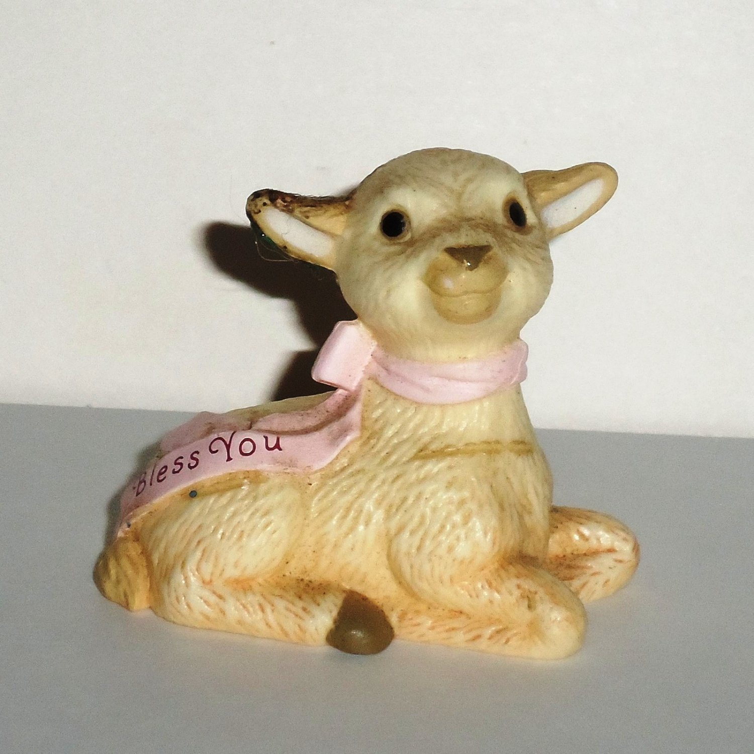 Hallmark Lamb Merry Miniatures Ceramic Figurine Loose Used