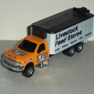 Tonka Maisto Farm Livestock Feed Stores Delivery Truck Diecast and Plastic Vehicle Loose Used