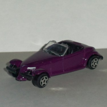 Purple 1:55 Scale Plymouth Prowler Diecast Car Loose Used
