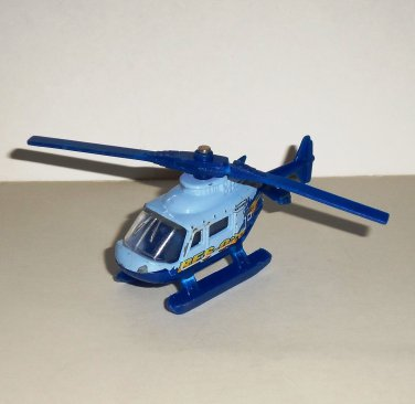 Matchbox Sky Busters 1998 Rescue Chopper Helicopter Blue Diecast Airplane Loose