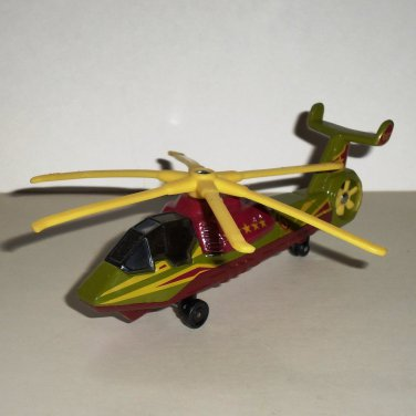 Matchbox Sky Busters 2002 Military Helicopter Brown Diecast Airplane Loose Used