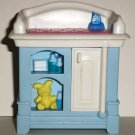 Fisher-Price 1999 Loving Family Dollhouse Baby Changing Table 74807 74804 Loose Used