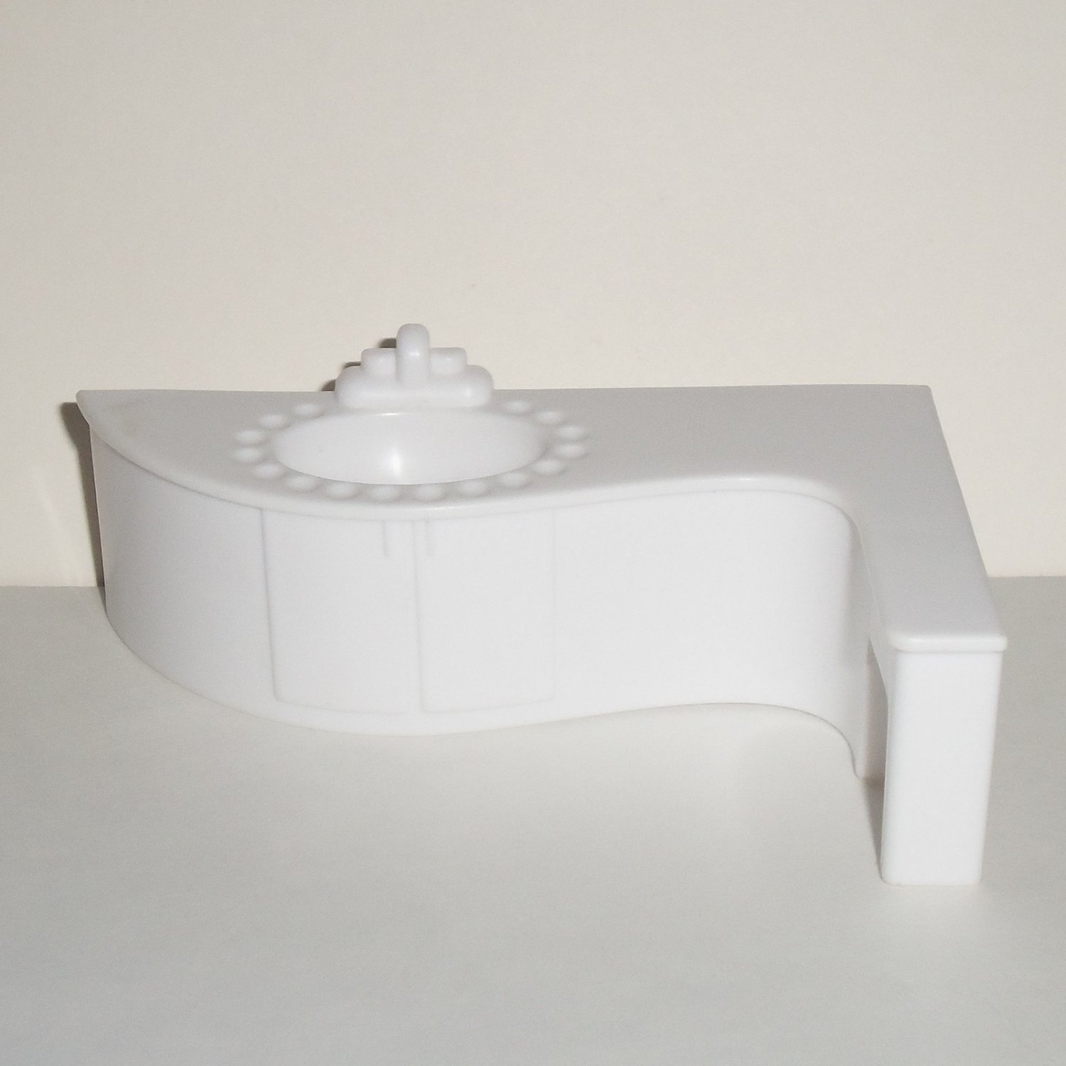 White plastic dollhouse bathroom sink vanity loose used Used bathroom vanity with sink