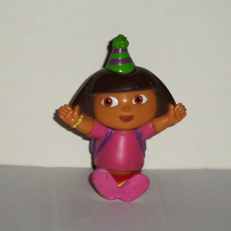 Dora the Explorer Birthday Sitting Vinyl Figure Decopac Cake Topper Loose Used