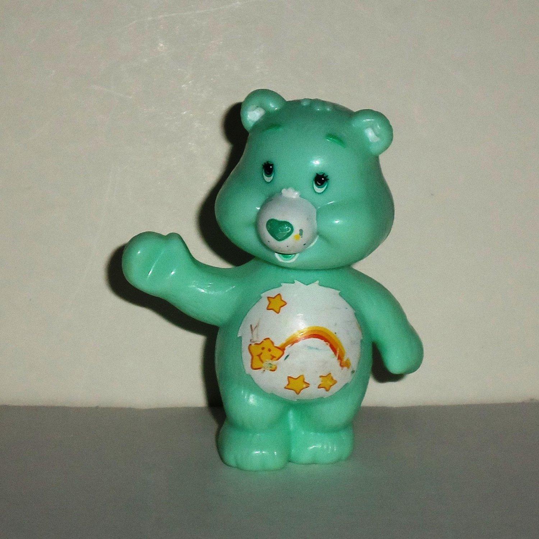 Care Bears Wish Bear Bobble Head Plastic Figure Loose Used