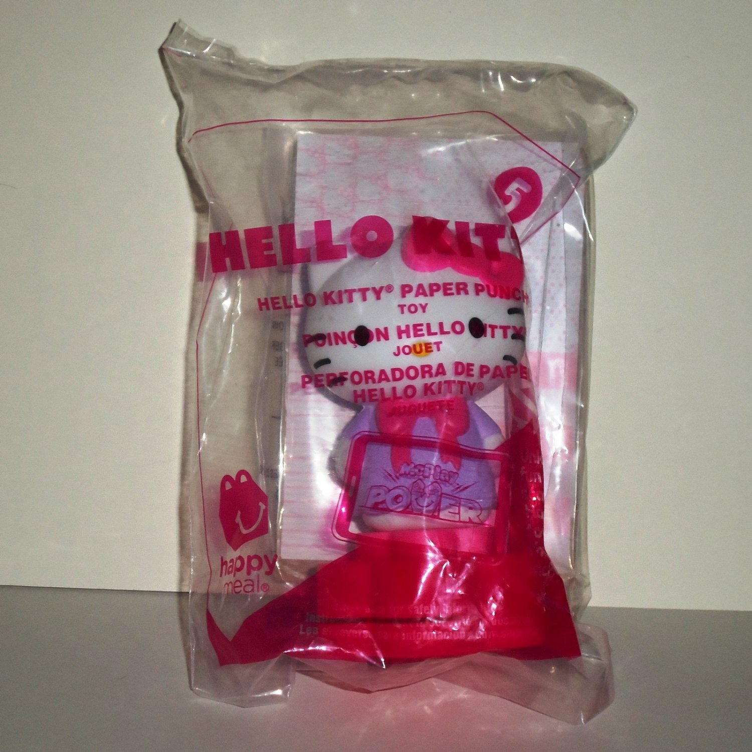 McDonald's 2015 Hello Kittty Paper Puncher Happy Meal Toy #5 in Original Packaging NIP