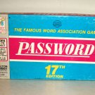 Vintage Password Board Game 17th Edition Milton Bradley Used