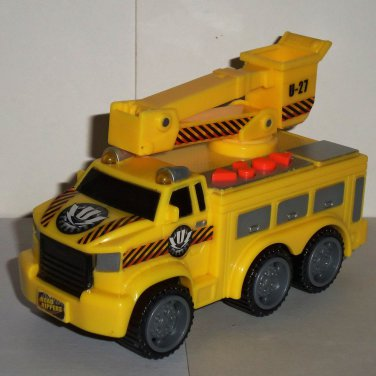 Road Rippers City Service Fleet Yellow Utility Truck Motorized Lights & Sound Toy State Loose Used
