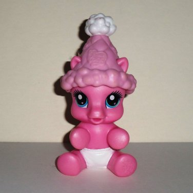 My Little Pony Newborn Cuties Pinkie Pie Figure with Hat Hasbro 2008 Loose Used
