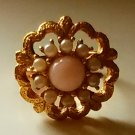 Vintage Sarah Coventry Angel Pink Ring 1970s