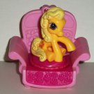 McDonald's 2007 My Little Pony Butterscotch with Patio Chair Happy Meal Toy Hasbro Loose Used