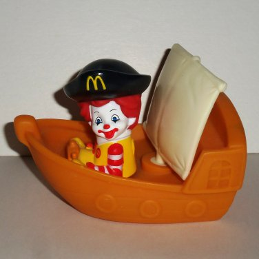 McDonald's 2007 Baby Ronald Pirate Ship U3 Happy Meal Toy Loose Used