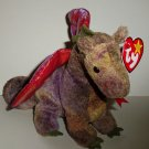Ty 1998 Beanie Babies Scorch the Dragon Damaged Swing Tag Loose Used