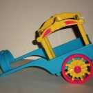 Fisher-Price Friendship Ponies Chuckles' Wagon Only Mattel B9648 Loose Used
