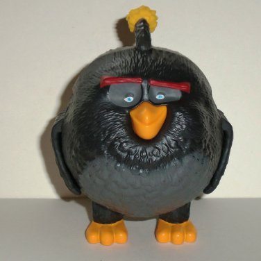 McDonald's 2016 Angry Birds Bomb Figure Happy Meal Toy Loose Used