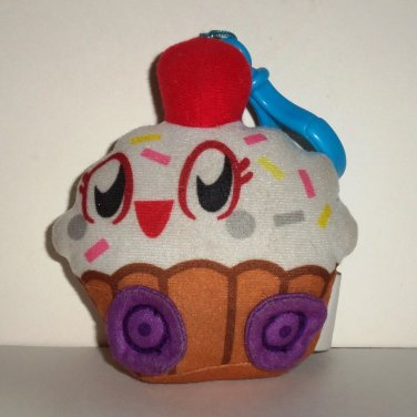 Moshi Monsters Cutie Pie Cupcake Plush Toy w/ Clip Spin Master 2011 Loose Used