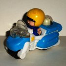 McDonald's 2005 Fisher-Price Little People Police Motorcycle U3 Under 3 Happy Meal Toy Loose Used