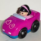 Fisher-Price Little People Wheelies X0022 Pink Hearts Sports Car Mattel 2011 Loose Used