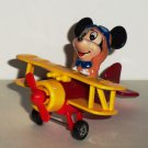 Tomy Disney Mickey Mouse Airplane Yellow Red Metal & Plastic Loose Used