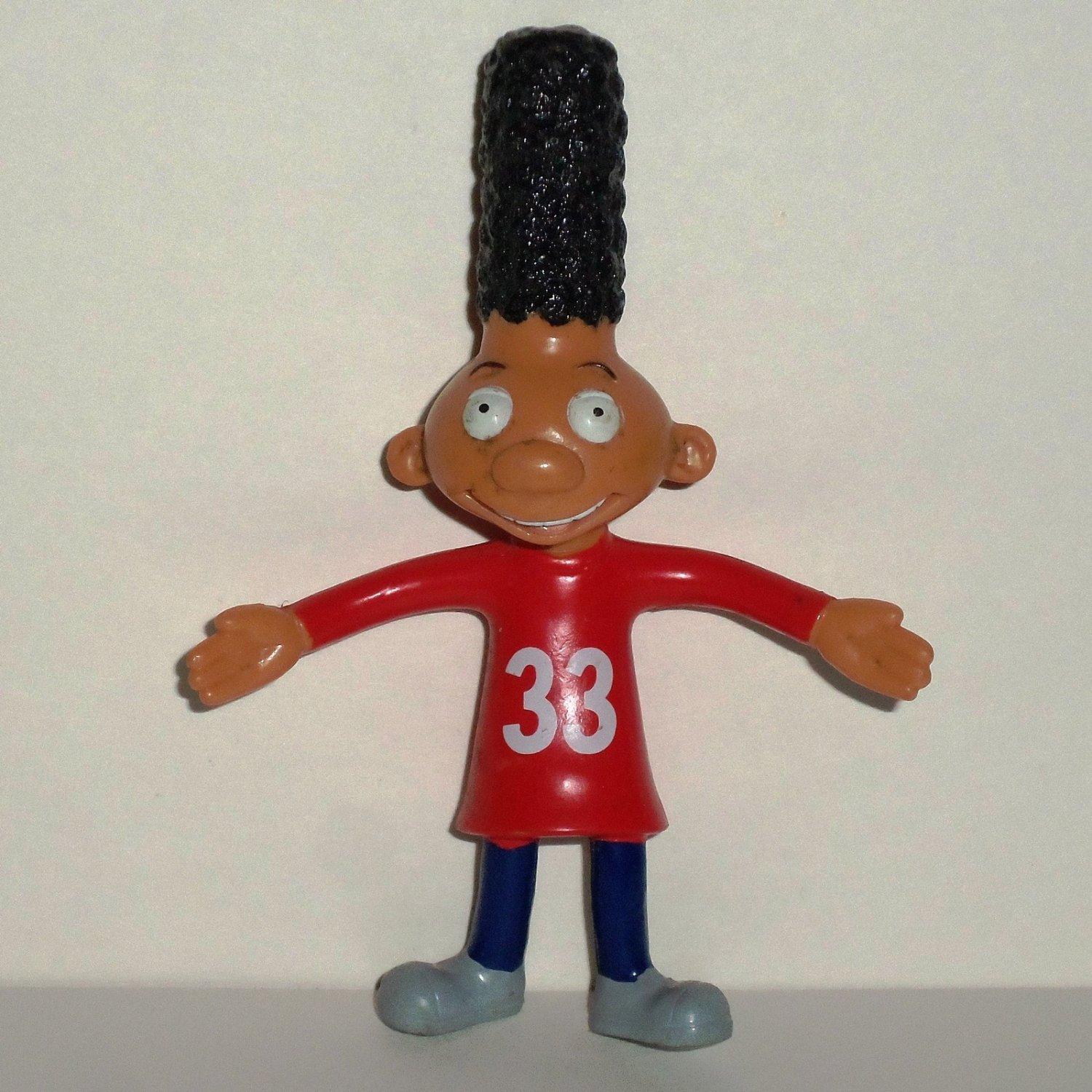 Wendy's 2003 Hey Arnold Gerald Bendy Figure Kids Meal Toy Loose Used