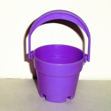 Purple Plastic Water Bucket Dollhouse Accessory Loose Used