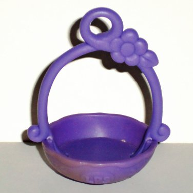 Littlest Pet Shop Purple Basket Accessory Hasbro Loose Used