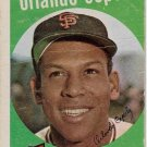 1959 Topps Baseball Card #390 Orlando Cepeda San Francisco Giants Poor