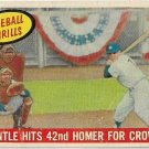 1959 Topps Baseball Card #461 Mickey Mantle Baseball Thrills 42nd Homer New York Yankees Fair