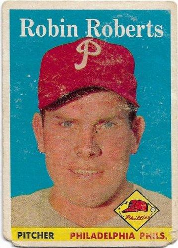 1958 Topps Baseball Card #90 Robin Roberts Philadelphia Phillies Poor