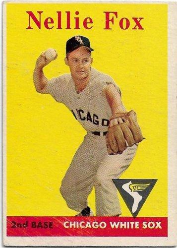 1958 Topps Baseball Card #400 Nellie Fox Chicago White Sox Good