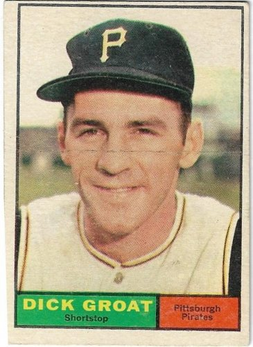 1961 Topps Baseball Card #1 Dick Groat Pittsburgh Pirates Good