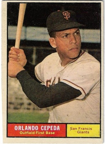 1961 Topps Baseball Card #435 Orlando Cepeda San Francisco Giants Very Good