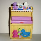Fisher-Price 2007 Loving Family Changing Table from Nursery Set #L3183 Loose Used