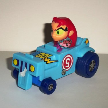 McDonald's 2017 Teen Titans Go Starfire Stickers Attached Happy Meal Toy Loose Used