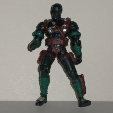 G.I. Joe 2002 Series 18 Snake Eyes Version 11 Action Figure Hasbro Incomplete Loose Used