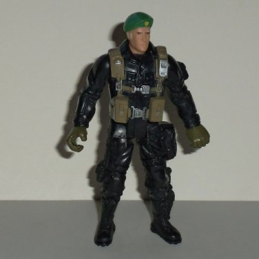 Chap Mei Soldier Force Action Figure w/ Beret and Black Outfit Loose Used