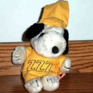 Vintage Peanuts Snoopy In Yellow Nightshirt Plush Toy Loose Used
