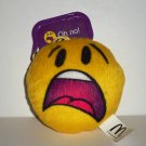 McDonald's 2016 Emoji Plush Oh No Happy Meal Toy w/ Clip Loose Used