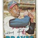 1967 Topps Baseball Card #250 Hank Aaron Atlanta Braves Good