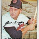 1967 Topps Baseball Card #509 Jim King Washington Senators Fair