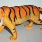 "7.5"" Long Plastic Tiger Toy Animal Figure Loose Used"