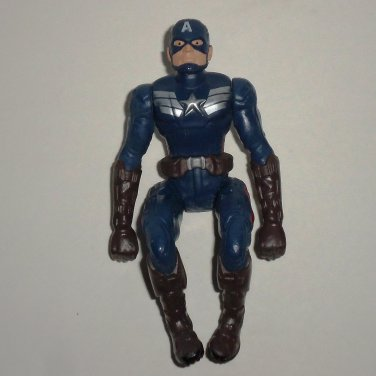 Captain America Motorcycle Driver Action Figure Hasbro 2013 Marvel Comics Loose Used