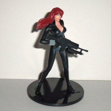 Marvel Monogram 2012 Black Widow Action Figure on Stand Loose Used